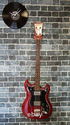 Rare Vintage Bass Guitar Hagstrom Hiibn / F400n In Very Good Condition