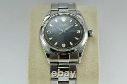 Rolex Oyster Perpetual Ref 5500 Steel 34mm C. 1950 Very Good State Steel Bracelet