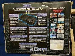 Sega Mega CD II Region Free Box With Manual & 2 Games Very Good Condition