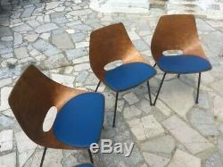 Sell 6 Chairs Steiner Barrel Pierre Guariche Very Good Condition (sold By Lot)