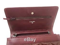 Shoulder Bag Chanel Woc Bordeaux Polish Very Good Condition