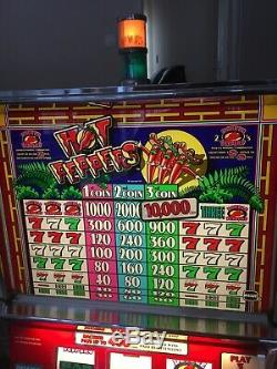 Slot Machine In Igt S + Hot Peppers With Coin Euro @@@ Very Good Condition