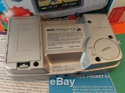 Snk Neo Pocket Geo Pocket Color Platinum Silver -boite + Notice Very Good Condition