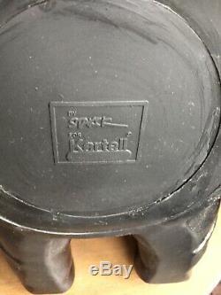 Stool Philippe Starck Kartell Harnessed Very Good Black State H44 Diameter 34