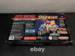 Super Nintendo Console Pack Starwing Pal Very Good Condition