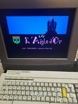 Thomson To9 Computer Very Good Uc + Keyboard + Manual (no To7 To8 Mo5 Mo6)