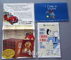 Tintin Herge Rombaldi 12 Albums Integrale Work D'herge Tres Bon Etat