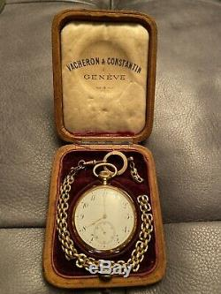 Vacheron & Constantin 18k Yellow Gold Pocket Watch XIX In Very Good State