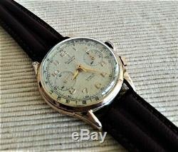 Vintage Mechanical Chronograph Eldor Geneva. 50s Very Good State
