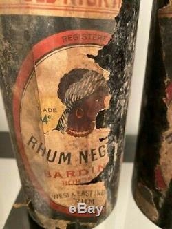 2 Très Vieux RHUM NEGRITA (Vers 1930) en l'état et bon niveau