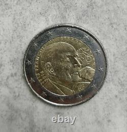 2 euro RARE commémorative François Mitterrand 1916/2016 en très bon état