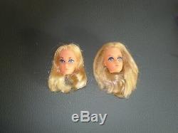 A Choisir 1972 2 Barbie Walk Lively Et 2 Tetes En Tres Bon Etat Voir Photos