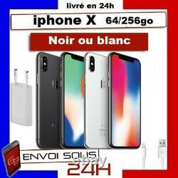 APPLE Iphone X Noir Argent 64Go / 256 Go Reconditionné Comme Neuf