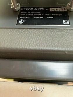 Amplificateur Revox A722 1973 très bon état Rare vintage