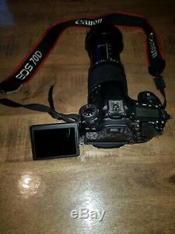 Appareil photo reflex CANON EOS 70D + 18-300 sigma stabilisé. En très bon état