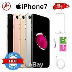 Apple iPhone 7 32Go 128Go GSM Usine DÉBLOQUÉ iOS Téléphones Mobiles Noir Or Rose