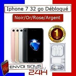 Apple iPhone 7 32Go Noir Or Rose Argent RECONDITIONNÉ et DÉBLOQUÉ Très bon état