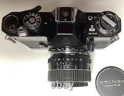 Asahi Pentax ES II Takumar f1,4-50mm M42+bouchon+Sac TP cuir Très Bon État