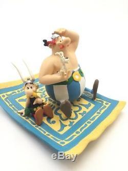 asterix scene atlas figurine le tapis volant village gaulois tres bon etat