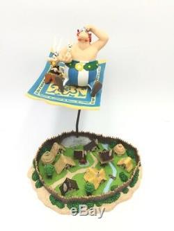 Astérix scène atlas figurine le tapis volant village gaulois très bon état