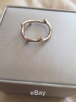 Bague Dior rose des bois or blanc taille 53 Très bon état