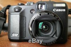 Boîte complète CANON PowerShot G12 Série PRO en très bon état + Carte SDHC 16 Go