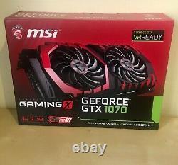 Boite d'emballage MSI GTX 1070 Gaming X 8gb Très bon état