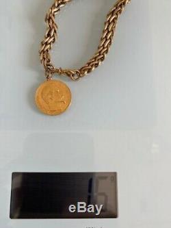 Bracelet Or 20 francs Napoleon III / A 1856 très bon état poids 16 gr