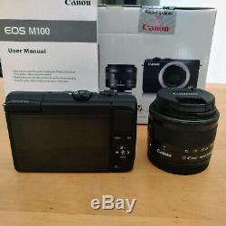 CANON EOS M100 + Objectif EF-M 15-45mm F/3.5-6.3 IS STM Très bon état