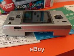 CONSOLE SNK Neo Geo Pocket Color Platinum Silver -BOITE + NOTICE TRES BON ETAT