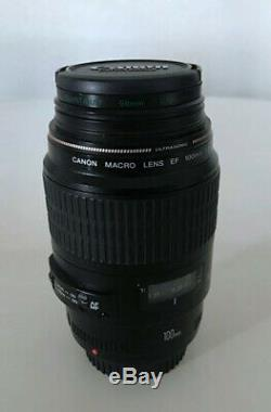 Canon EF 100 mm f/2.8 Macro Objectif. Très bon état. Bien entretenu