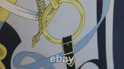 Carré Hermès en soie 90X90 Eperon d'or -Occasion très bon état