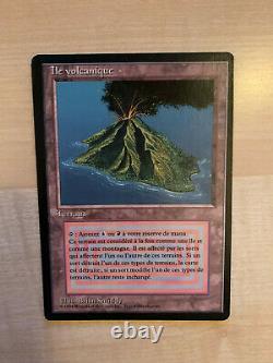 Carte Magic ile volcanique MTG edition 1994 bord noir très bon état