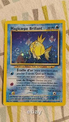 Carte Pokémon Magicarpe Brillant 66/64 Holo FR Neo Très Bon Etat