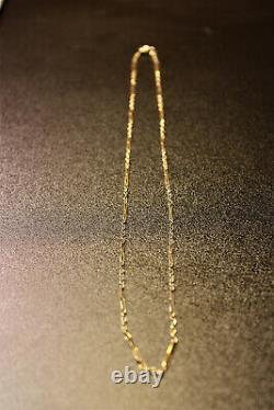 Chaîne maille originale en or jaune 18K, 3,32gr, très bon état