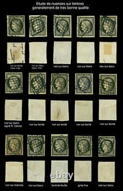 Collection exceptionnelle du premier timbre de France Cérès 20c noir de 1849