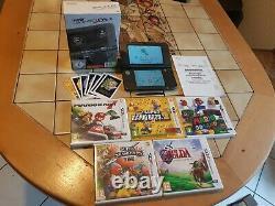 Console NEW Nintendo 3DS XL NOIRE METTALIC. EN BOITE. Tres bon etat+Jeux