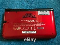 Console NINTENDO 3DS XL Super Smash BROS Rouge Tres bon état