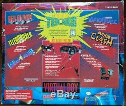 Console jeux vidéo Nintendo Virtual Boy, très bon état + jeux Mario's Tennis