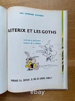 DEDICACE Uderzo Astérix et les Goths 3c ED 1965 Très bon état Rarissime