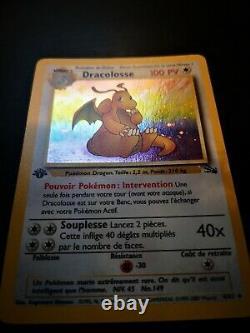 Dracolosse Holo Pokemon 4/62 Fossile Edition 1 Tres Bon Etat Fr