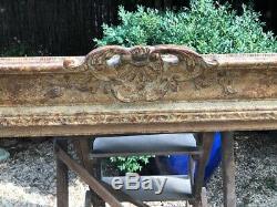 Exceptionnel cadre montparnasse bois sculpté + patine format 30F très bon état