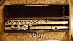 Flûte traversière Louis Lot #8148 très bon état embouchure argent massif