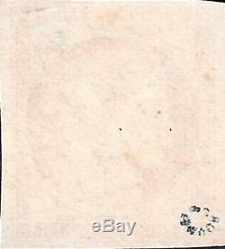 France 1849 n°7 ceres 1 franc vermillon très belle nuance oblitéré