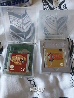 Game boy color Violette Translucides en boîte + 2 jeux zelda. État très très bon