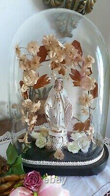 Globe de mariée dédié à Marie très bon état
