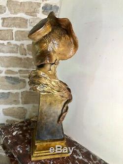 Grand Buste Goldscheider Haut 71 Terre Cuite très bon etat