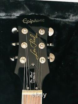 Guitare Epiphone Les Paul 3 en très bon état, de couleur verte