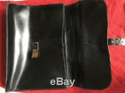 Hermès Sac à dépêche vachette noir 40 cm très bon état 1985