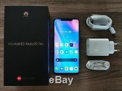 Huawei Mate 20 Pro 128Go Twilight désimlocké, en très bon état, sous garantie